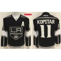 Kings #11 Anze Kopitar Black Women's Home Stitched NHL Jersey
