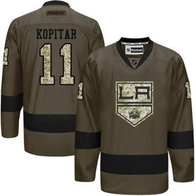 Kings #11 Anze Kopitar Green Salute to Service Stitched NHL Jersey