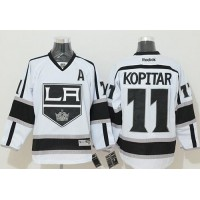 Kings #11 Anze Kopitar White Road Stitched NHL Jersey