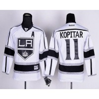Kings #11 Anze Kopitar White Road Stitched Youth NHL Jersey