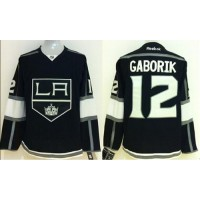Kings #12 Marian Gaborik Black Home Stitched NHL Jersey