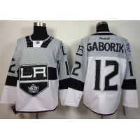 Kings #12 Marian Gaborik WhiteGrey 2015 Stadium Series Stitched NHL Jersey