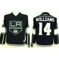 Kings #14 Justin Williams Black Home Stitched Youth NHL Jersey