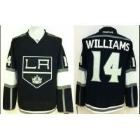 Kings #14 Justin Williams Black Stitched NHL Jersey