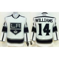Kings #14 Justin Williams White Road Stitched Youth NHL Jersey