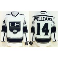 Kings #14 Justin Williams White Stitched NHL Jersey