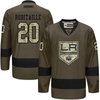 Kings #20 Luc Robitaille Green Salute to Service Stitched NHL Jersey