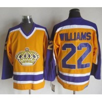 Kings #22 Tiger Williams YellowPurple CCM Throwback Stitched NHL Jersey