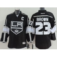 Kings #23 Dustin Brown Black Home Stitched Youth NHL Jersey