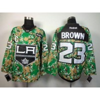 Kings #23 Dustin Brown Camo Veterans Day Practice Stitched NHL Jersey