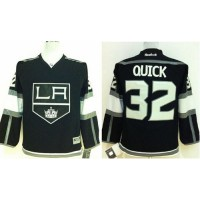 Kings #32 Jonathan Quick Black Home Stitched Youth NHL Jersey