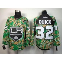 Kings #32 Jonathan Quick Camo Veterans Day Practice Stitched NHL Jersey