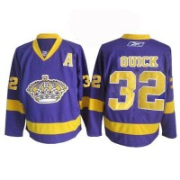 Kings #32 Jonathan Quick Purple Stitched NHL Jersey