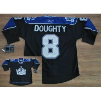 Kings #8 Drew Doughty Black Third Stitched NHL Jersey