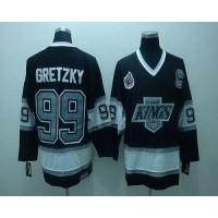 Kings #99 Wayne Gretzky Black CCM Throwback Stitched Youth NHL Jersey