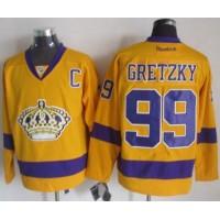 Kings #99 Wayne Gretzky Gold Alternate Stitched NHL Jersey