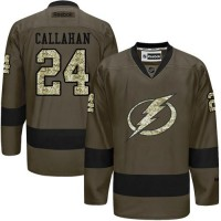 Lightning #24 Ryan Callahan Green Salute to Service Stitched NHL Jersey