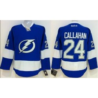 Lightning #24 Ryan Callahan Royal Blue Stitched Youth NHL Jersey