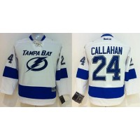 Lightning #24 Ryan Callahan White Road Women's Stitched NHL Jersey