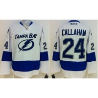 Lightning #24 Ryan Callahan White Stitched NHL Jersey