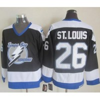 Lightning #26 Martin St. Louis Black CCM Throwback Stitched NHL Jersey