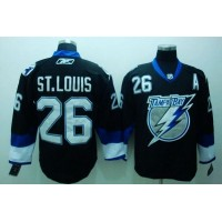 Lightning #26 St.Louis Stitched Black NHL Jersey