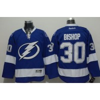 Lightning #30 Ben Bishop Blue Stitched NHL Jersey