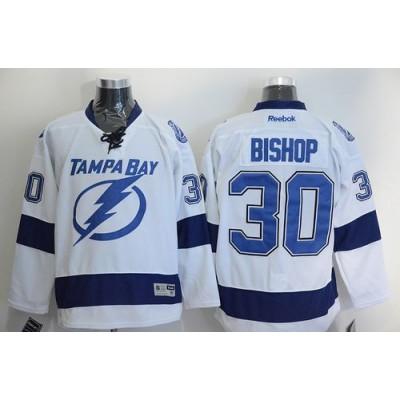 Lightning #30 Ben Bishop White Stitched NHL Jersey