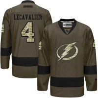 Lightning #4 Vincent Lecavalier Green Salute to Service Stitched NHL Jersey