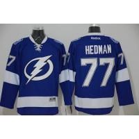 Lightning #77 Victor Hedman Blue Stitched NHL Jersey