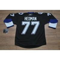 Lightning #77 Victor Hedman Stitched Black NHL Jersey