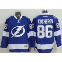 Lightning #86 Nikita Kucherov Blue Stitched NHL Jersey