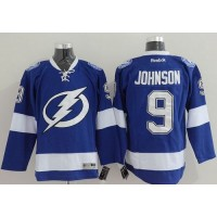 Lightning #9 Tyler Johnson Blue Stitched NHL Jersey