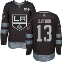 Los Angeles Kings #13 Kyle Clifford Black 1917-2017 100th Anniversary Stitched NHL Jersey