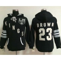 Los Angeles Kings #23 Dustin Brown Black Women's Old Time Heidi Hoodie