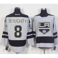 Los Angeles Kings #8 Drew Doughty Gray Alternate Stitched NHL Jersey