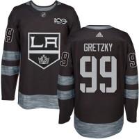 Los Angeles Kings #99 Wayne Gretzky Black 1917-2017 100th Anniversary Stitched NHL Jersey