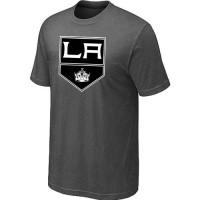 Los Angeles Kings Big & Tall Logo Crow Grey NHL T-Shirts
