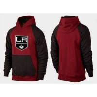 Los Angeles Kings Pullover Hoodie Burgundy Red & Black