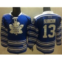 Maple Leafs #13 Mats Sundin Blue 2014 Winter Classic Stitched NHL Jersey