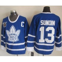 Maple Leafs #13 Mats Sundin Blue 75th CCM Throwback Stitched NHL Jersey