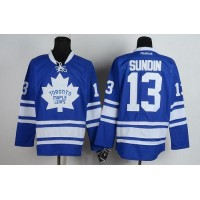 Maple Leafs #13 Mats Sundin Blue Third Stitched NHL Jersey