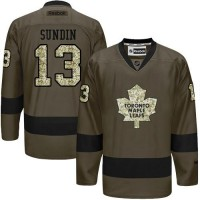 Maple Leafs #13 Mats Sundin Green Salute to Service Stitched NHL Jersey