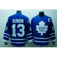 Maple Leafs #13 Mats Sundin Stitched Blue CCM Throwback NHL Jersey