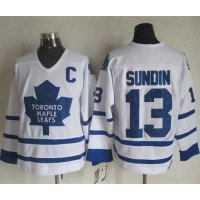 Maple Leafs #13 Mats Sundin White CCM Throwback Stitched NHL Jersey
