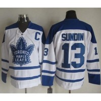 Maple Leafs #13 Mats Sundin White CCM Throwback Winter Classic Stitched NHL Jersey