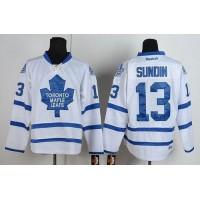 Maple Leafs #13 Mats Sundin White Road Stitched NHL Jersey