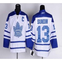 Maple Leafs #13 Mats Sundin White Third Stitched NHL Jersey