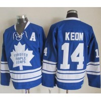 Maple Leafs #14 Dave Keon Blue CCM Throwback Third Stitched NHL Jersey