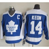Maple Leafs #14 Dave Keon BlueWhite CCM Throwback Stitched NHL Jersey